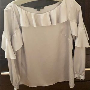 Silky ruffle blouse